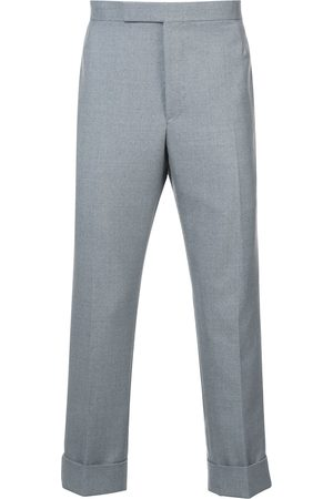 Thom Browne Classic Backstrap Trouser With Red, White And Blue Selvedge In School Uniform Twill