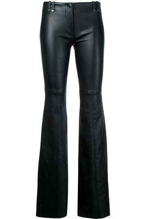 Plein Sud Flared leather trousers