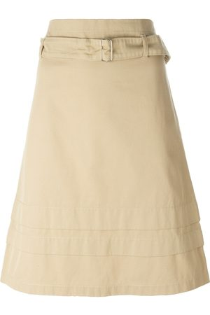ROMEO GIGLI Belted A-line skirt