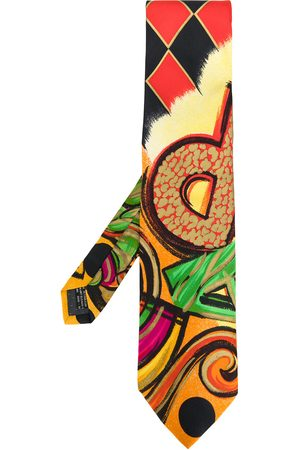 VERSACE Abstract print tie