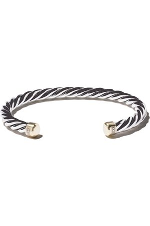 David Yurman Sterling silver woven cuff bracelet