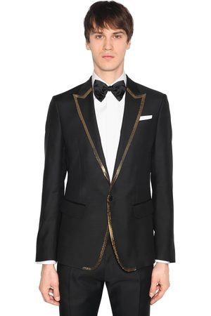 Dsquared2 London Wool Silk Jacket W/ Sequined Trim