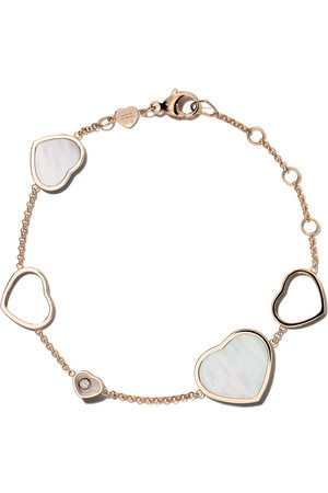 Chopard 18kt rose Happy Hearts mother of pearl and diamond bracelet