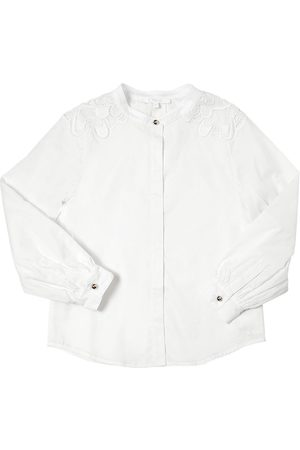 Chloé Doubled Cotton Satin Shirt