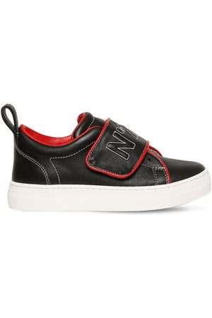 Nº21 Embroidered Leather Sneakers