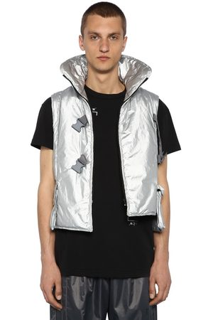 A-cold-wall* Men Vests & Camis - Metallic Nylon Padded Cropped Vest