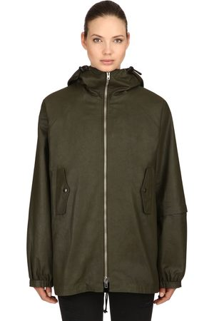 RAGLAN UNITED Hooded Coated Cotton Rain Jacket